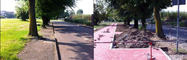 #Buccinasco: Riqualificazione di marciapiedi e parcheggi